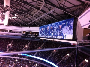 Just to the left of our box was this #Canuck banner
