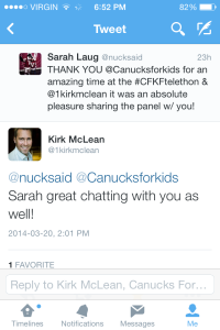 Following a moment that I will never forget...I tweeted my thanks to those involved & received this more than kind response from #CaptainKirk himself!